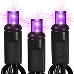 Black Wire - Purple Christmas LED Mini Light Strings - Category Image
