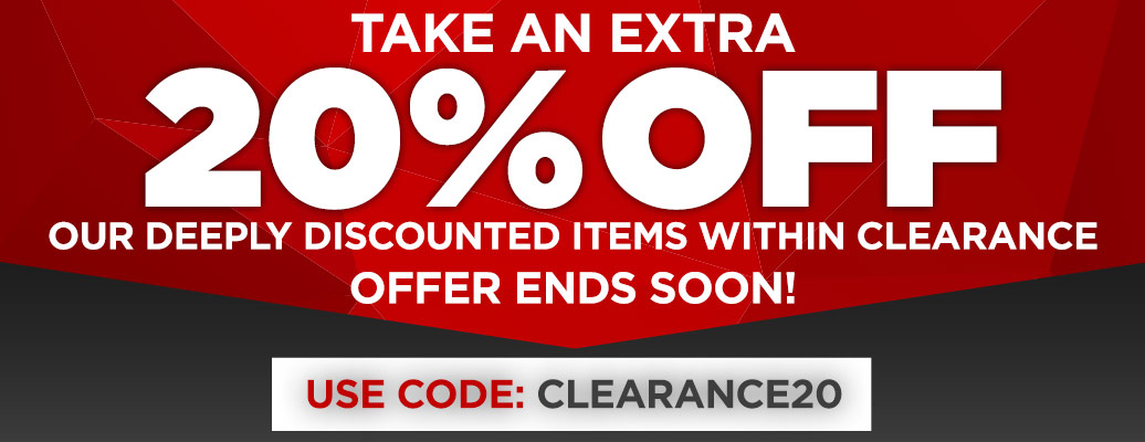 Additional 20% Off Our Clearance Area