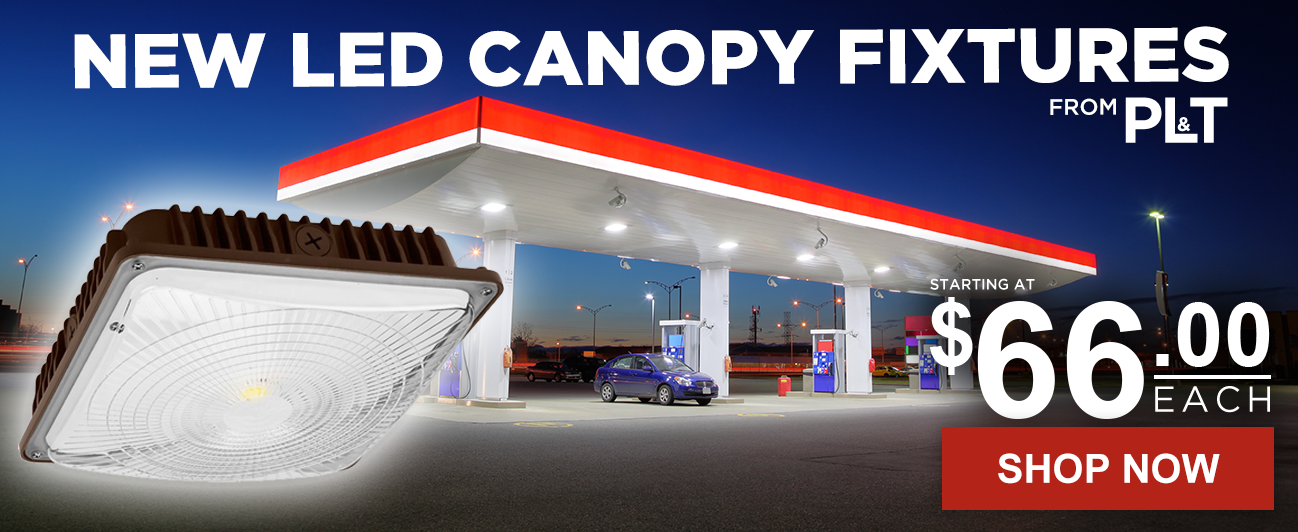 LED Canopy Fixtures From PLT